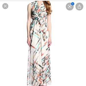 Vince Camuto • Geometric Design Maxi Dress